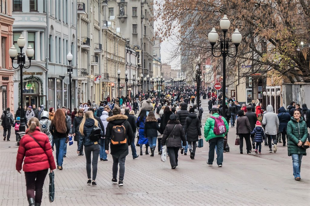 Arbatstreet, the most known touriststreet of Moscow.