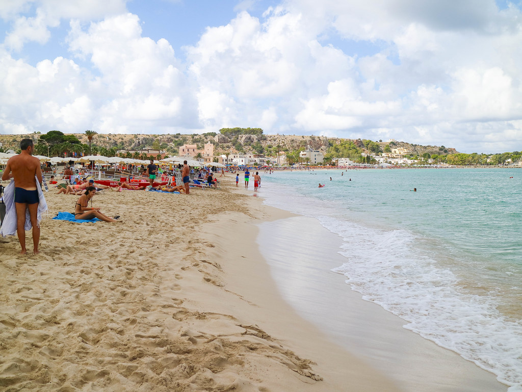 La playa de San Vito lo Capo es una de las mejores playas en Sicilia