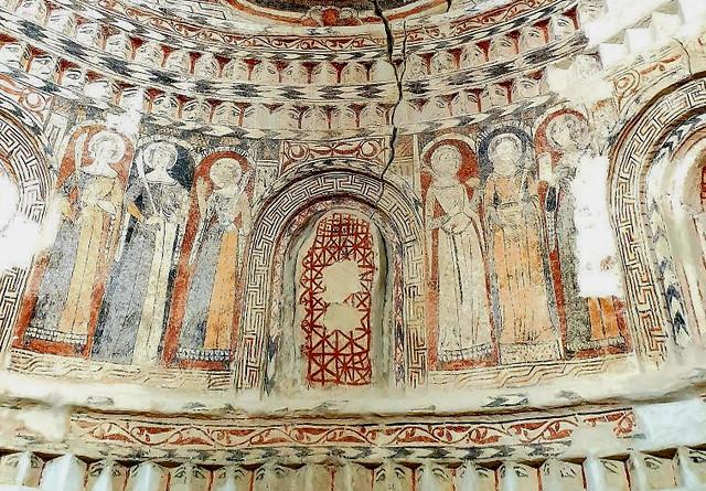 Murales mudéjares de la iglesia Santa María del Castillo en Madrigal de las Altas Torres