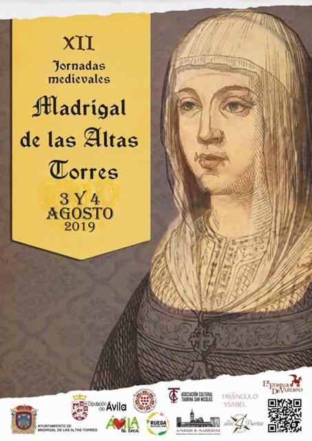 Cartel de las XII Jornadas medievales de Madrigal de las Altas Torres