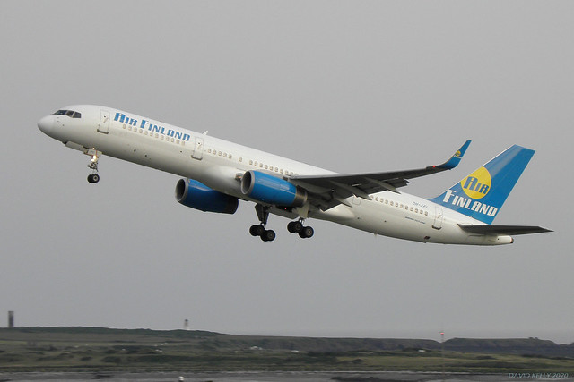 OH-AFI Air Finland Boeing 757-200 EGNS 26/06/09