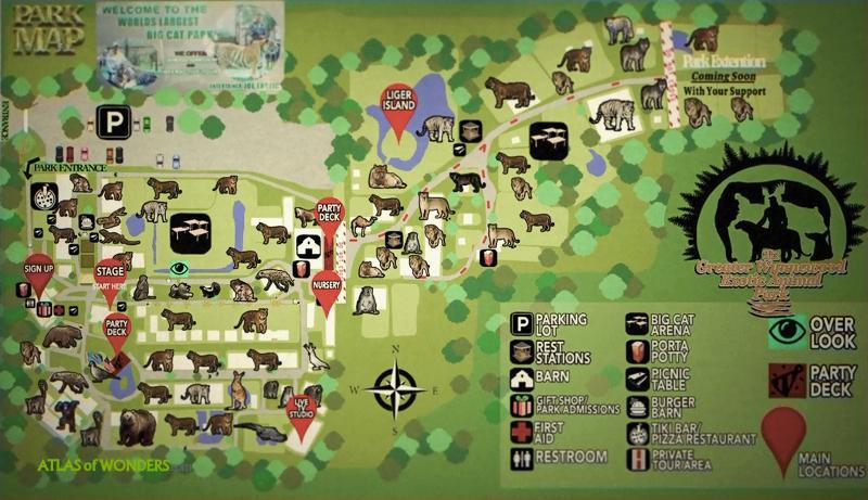 Joe Exotic Zoo Map
