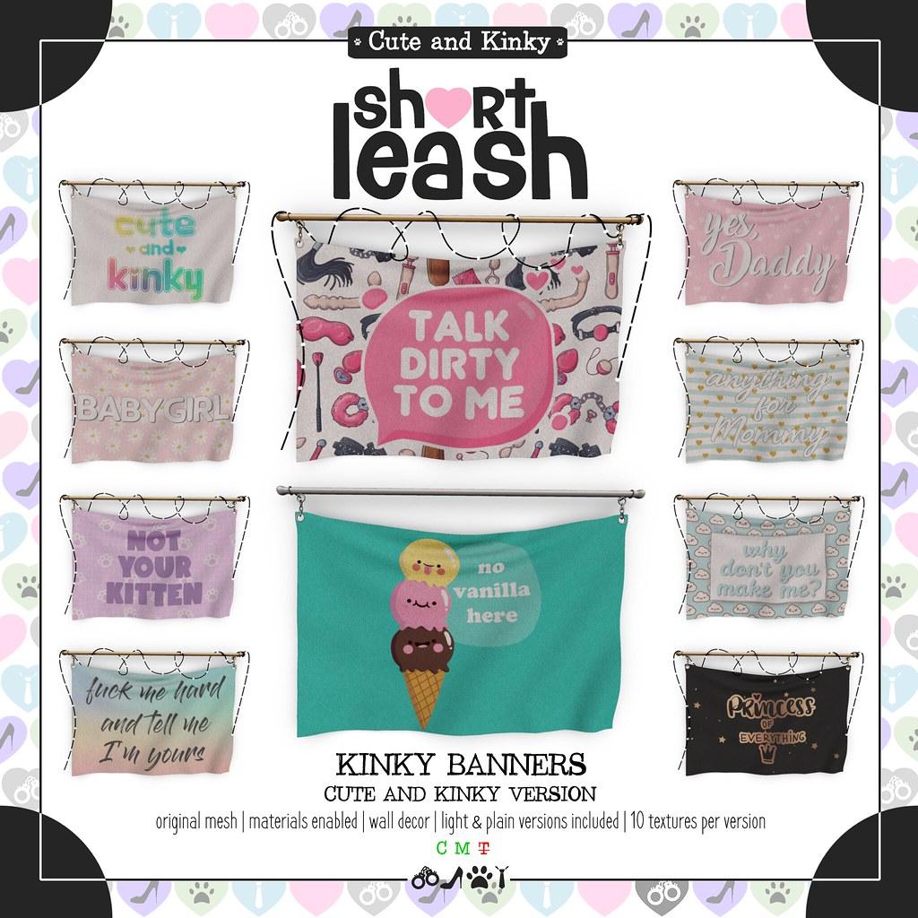 .:Short Leash:. Kinky Banners – Cute & Kinky Version