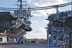USS FORRESTAL CV-59 & USS JOHN F. KENNEDY CV-67 Philadelphia Navy Yard.