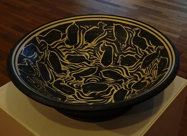 Ida H. Mortensen - Coots from Kertinge Nor - 2018 - Platter – stoneware