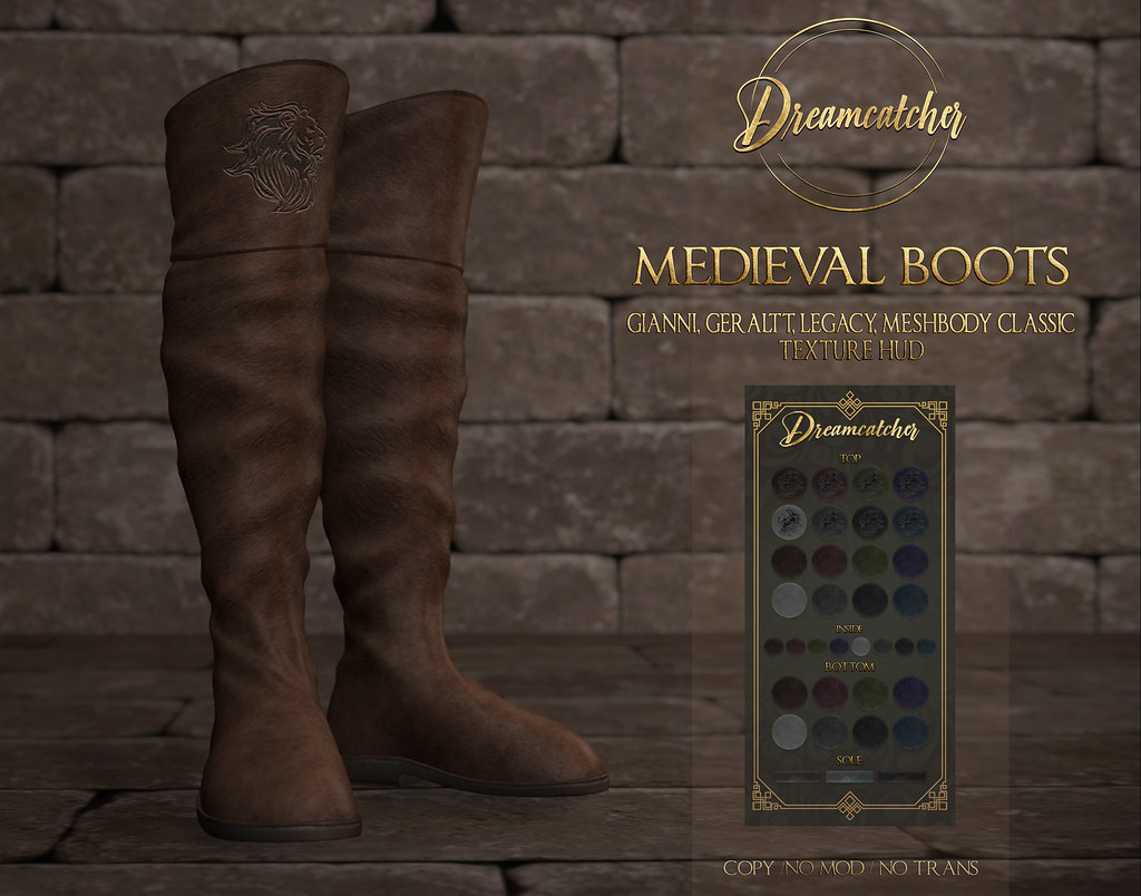 +Dreamcatcher+ Medieval boots – Male @ Fantasy Faire 2020