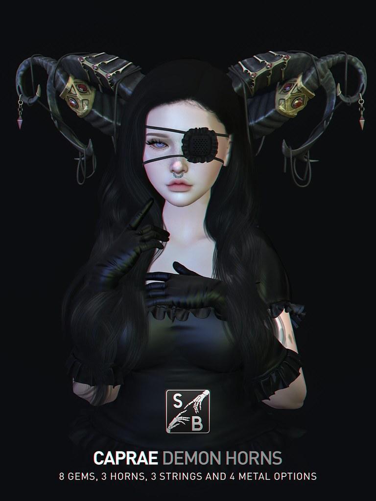 Skellybones – Caprae Demon Horns @ SaNaRae