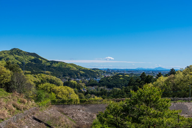 我街より・・・日和田山と遥か筑波山