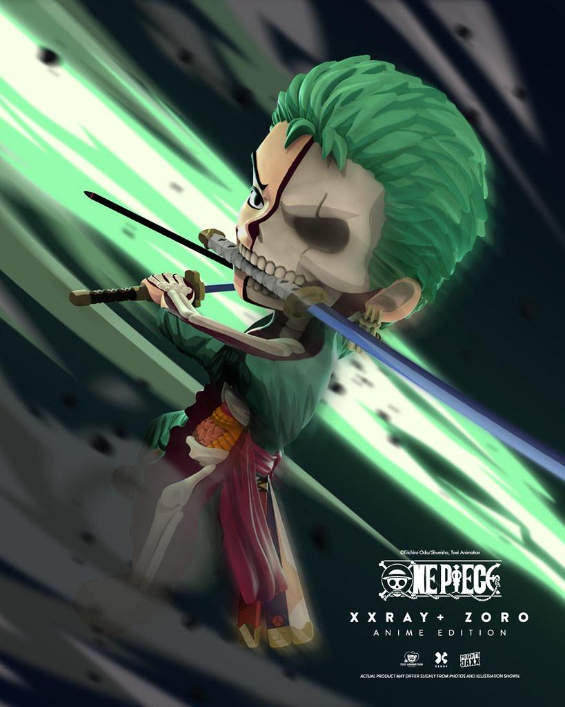 半剖劍豪現身! Jason Freeny × Mighty Jaxx XXRAY Plus 系列《ONE PIECE》索隆 動畫版(Zoro Anime Edition)