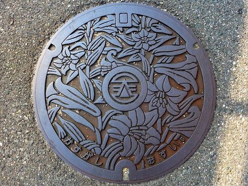 Kasuga Fukuoka, manhole cover (福岡県春日市のマンホール)