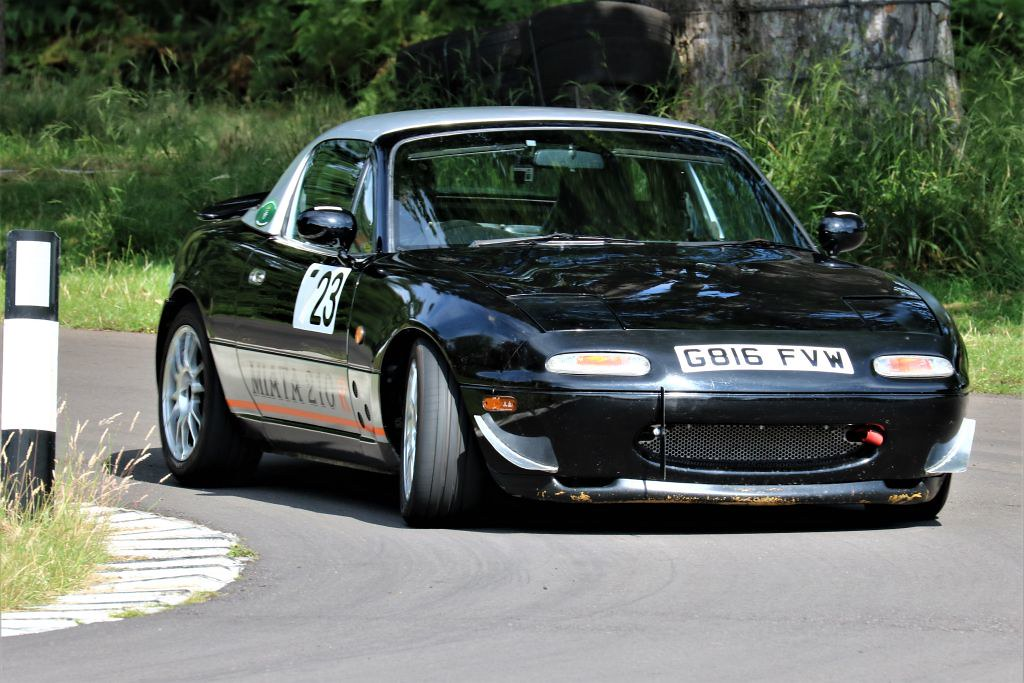 Nick Mugglestone's MX5 at Loton (S Wilkinson)