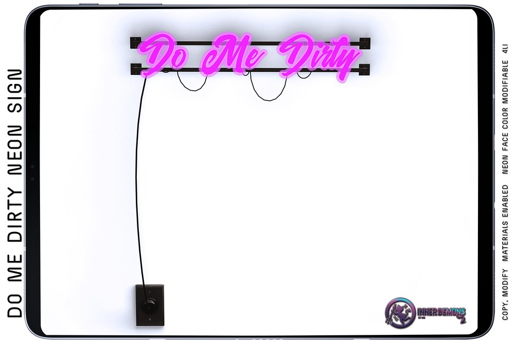 {ID} Do Me Dirty Neon Sign