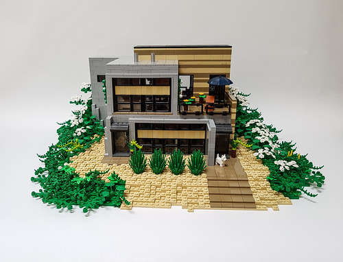 Daisy Hill House MOC front.