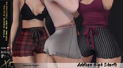Addison High Shorts - Miix Event -