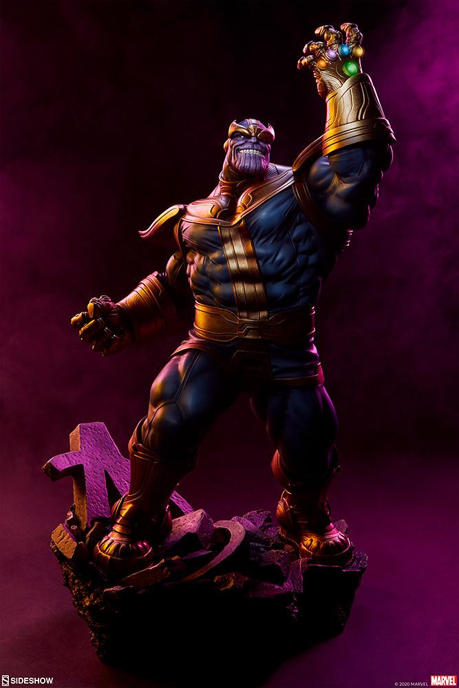 誇耀自身強大的狂妄姿態! Sideshow Collectibles Avengers Assemble 系列【薩諾斯】Thanos 1/5 比例全身雕像 經典版/現代版