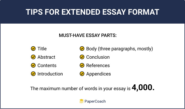 Tips for extended essay format