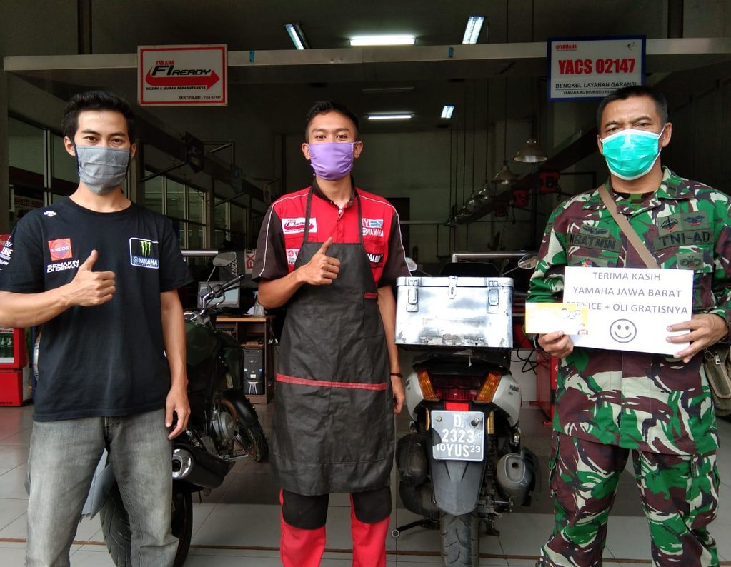 Yamaha Jawa Barat Peduli TNI