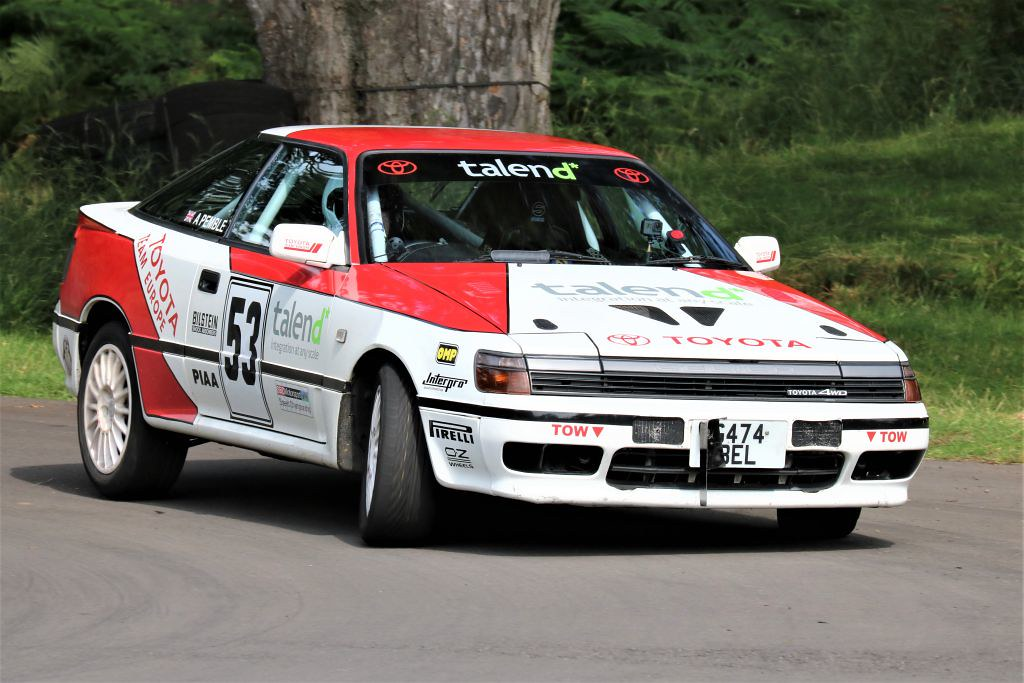 Adam Pemble, Toyota Celica at Loton (S Wilkinson)