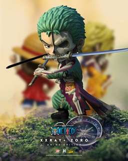 半剖劍豪現身! Jason Freeny × Mighty Jaxx XXRAY Plus 系列《ONE PIECE》索隆 動畫版(Zoro Anime Edition)