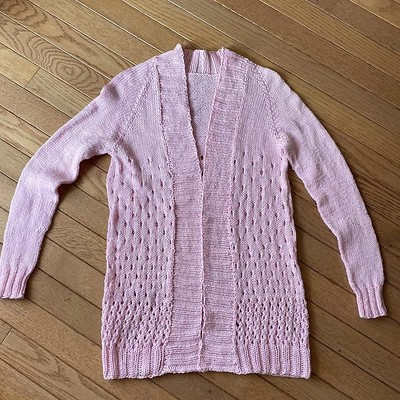 Jean started and finished this Children's Campside Cardi by Alicia Plummer in March!!