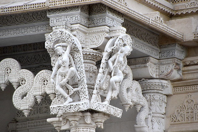 Temples Inricate Marble Carving, Neasdon, London.