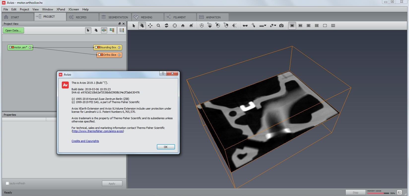 Working with ThermoSientific AVIZO 2019.1 full license
