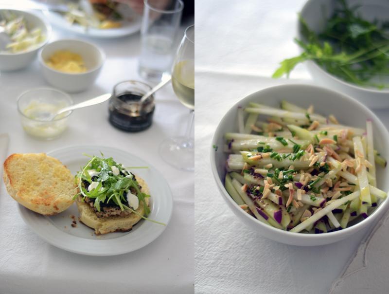 Ingrediente Secreto: Salada de Couve-Rábano com vinagrete de mostarda e amêndoas torradas