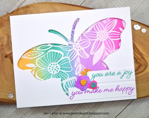 Jen Carter Wings of Joy Butterfly Layered Blooms Joy Happy