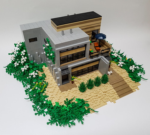 Daisy Hill House MOC. Slightly from above.
