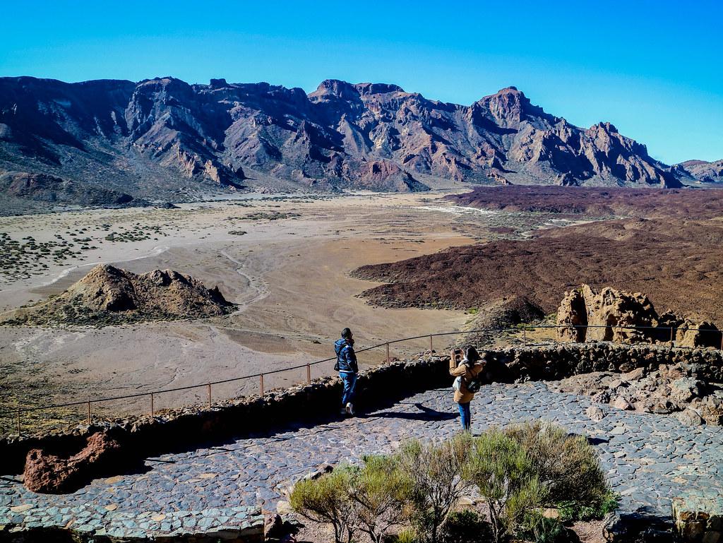 Vista del Llano de Ucanca desde los Roques de García