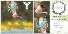 Simply Shelby Fairy Lights Watering Can Blue FF