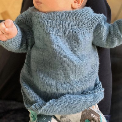 The baby Anker's Shirt by PetiteKnit is the sweetest!