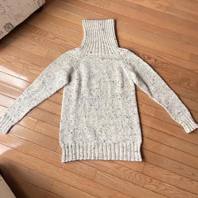 In February, Jean knit Kaitlin Blasing's Vanilla Bean Turtleneck.