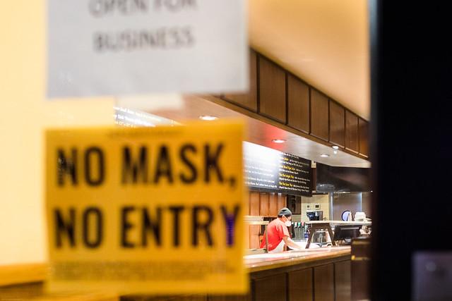 Não se entra sem máscara