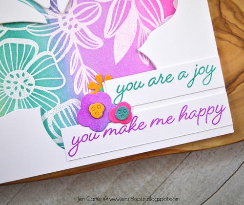 Jen Carter Wings of Joy Butterfly Layered Blooms Joy Happy Closeup