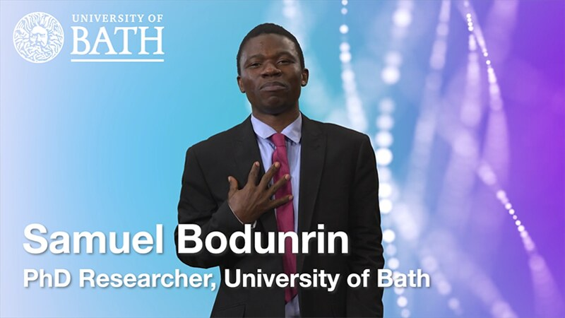 Photo of Sam Bodunrin who is a black PhD student