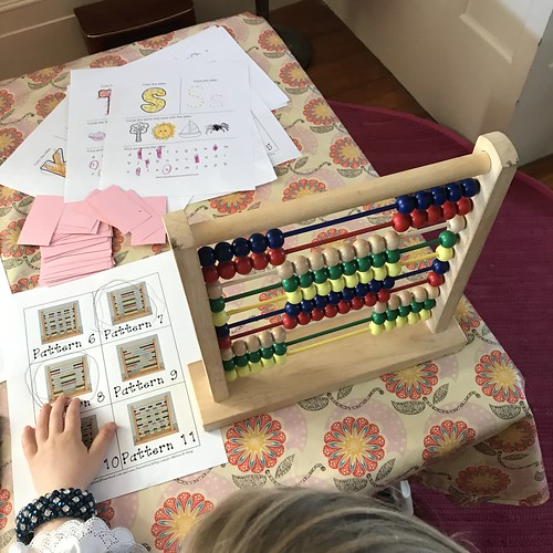 copying patterns on the abacus