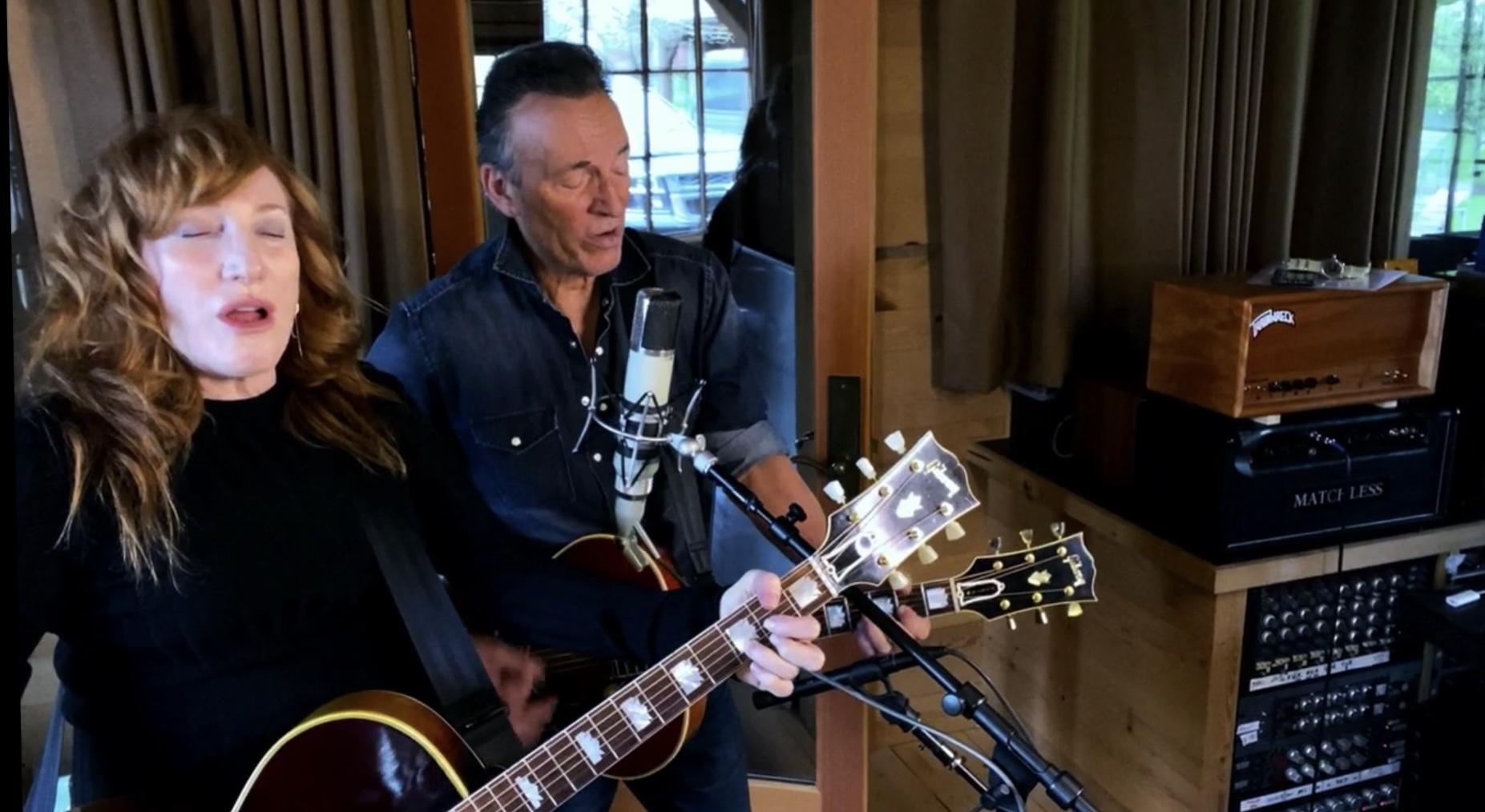 Bruce Springsteen y Patti Scialfa en Jersey4Jersey