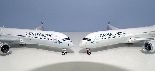 Cathay Pacific Airbus A350s Aviation400 vs JC Wings