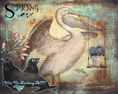 Image of a Digital Art Journal of Spring in Florida