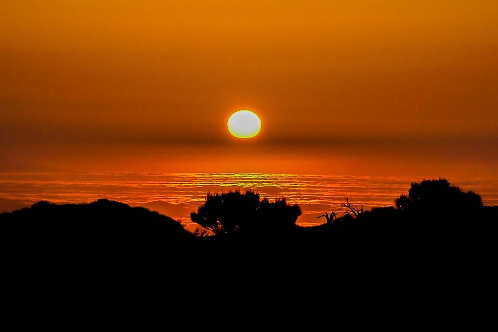 Puesta de sol desde El Teide