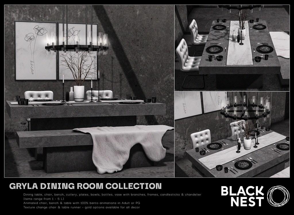 BLACK NEST / Gryla Dining Room Collection / Uber