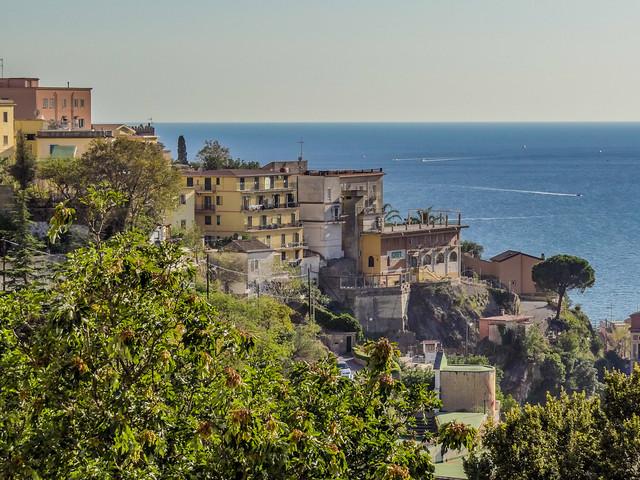 Coastline shot in Vietri Sul Mare, Salerno, Italy.
