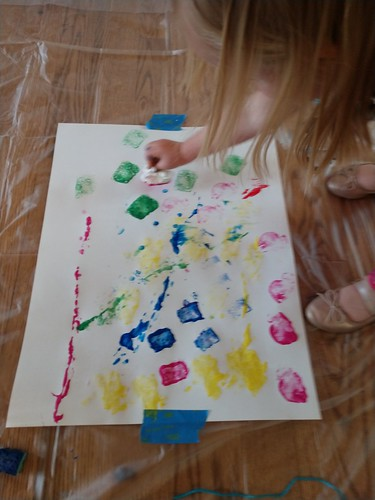 painting with crumpled paper