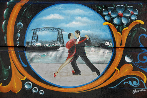 decorative painted tango dancer sign in Buenos Aires, Argentina