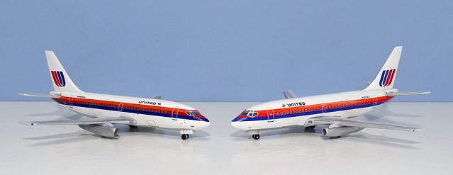 Saul Bass United 737-200s Aeroclassics vs SMA