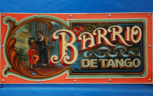 decorative painted tango sign in Buenos Aires, Argentina