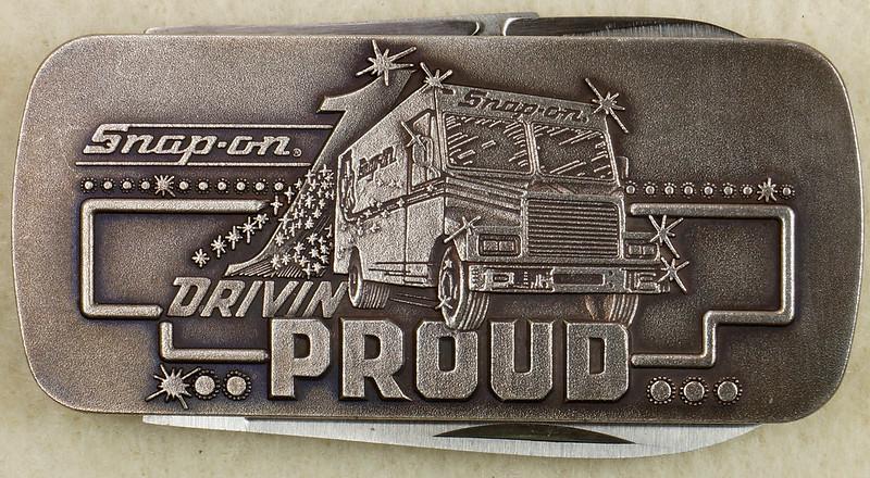 RD26030 Vintage Kershaw 6600DP Money Clip Knife Snap-on Tools Drivin Proud Truck DSC02947