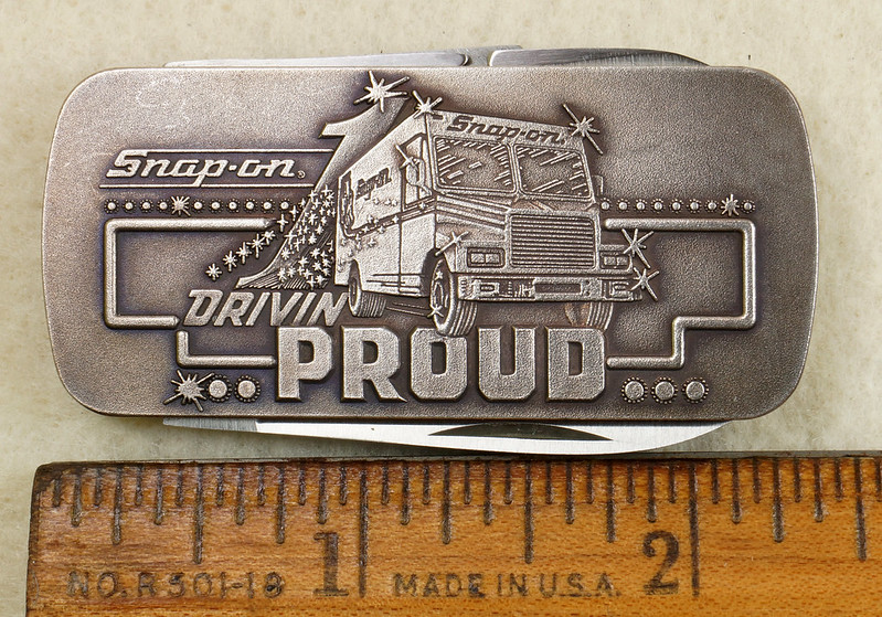 RD26030 Vintage Kershaw 6600DP Money Clip Knife Snap-on Tools Drivin Proud Truck DSC02946