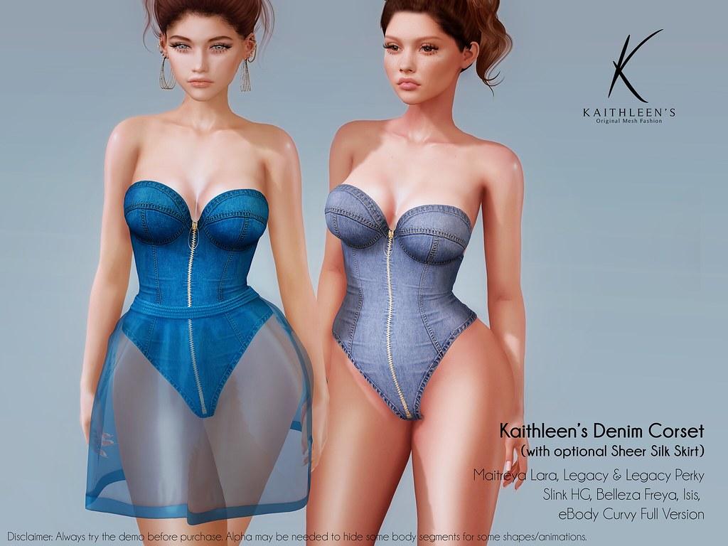 Kaithleen's Denim Corset Poster web